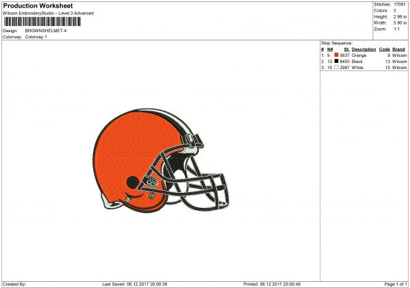 Cleveland Browns embroidery