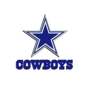 Cowboys embroidery
