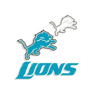 Detroit Lions Embroidery Design and Applique design files