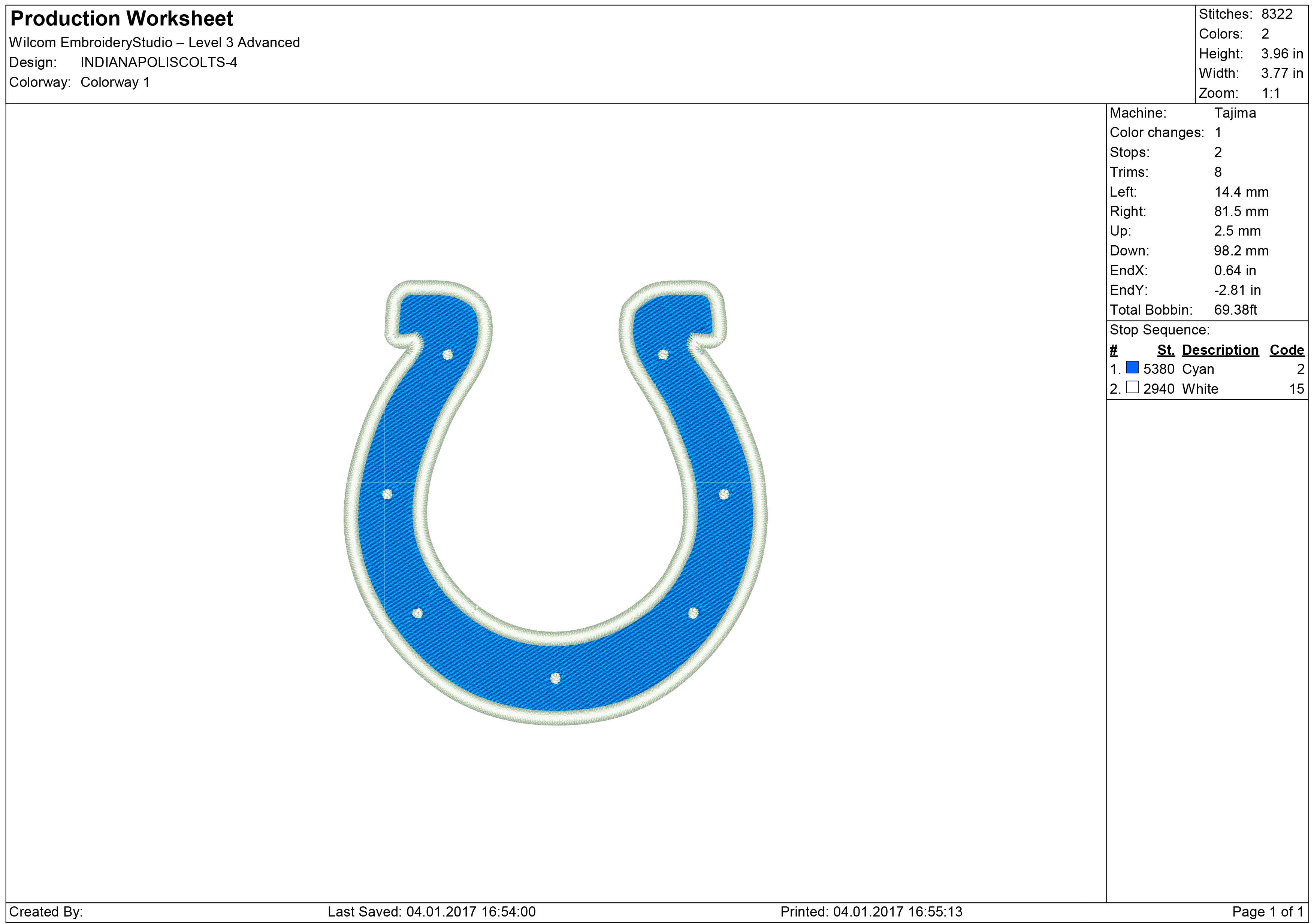 Indianapolis Colts Machine Embroidery Designs And Svg Files