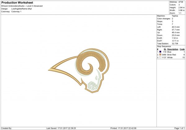 Rams applique