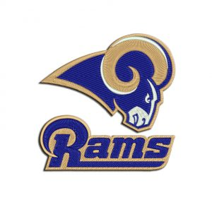 Rams embroidery