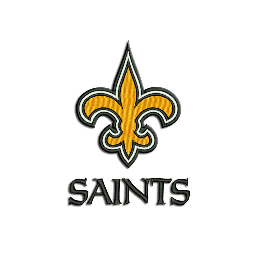 New Orleans Saints Embroidery Design