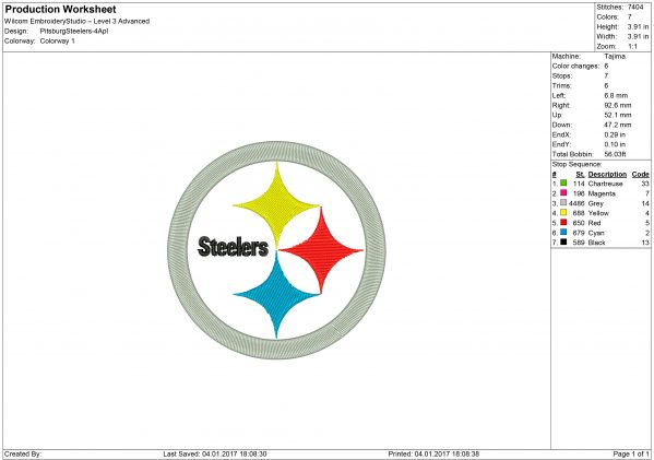 Steelers applique