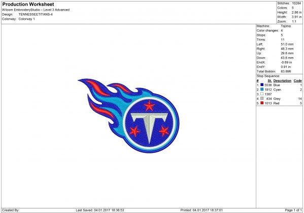 Titans embroidery