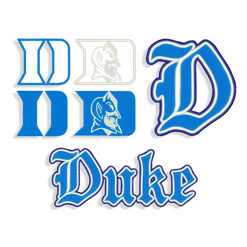 Machine Embroidery Duke Tshirt appliqu\u00e9 Design Duke Design,