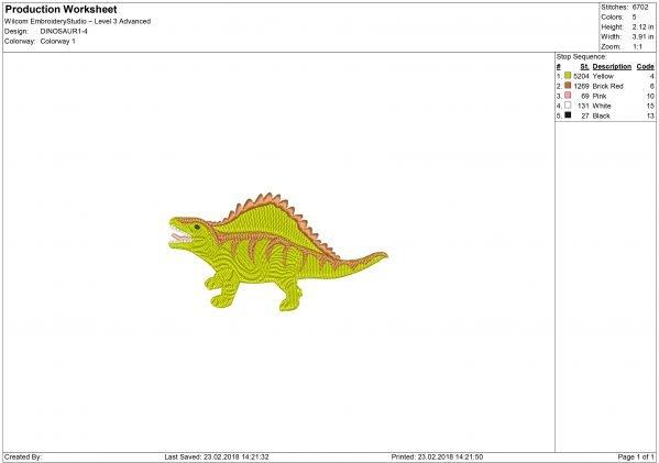 Dimetrodon Embroidery design