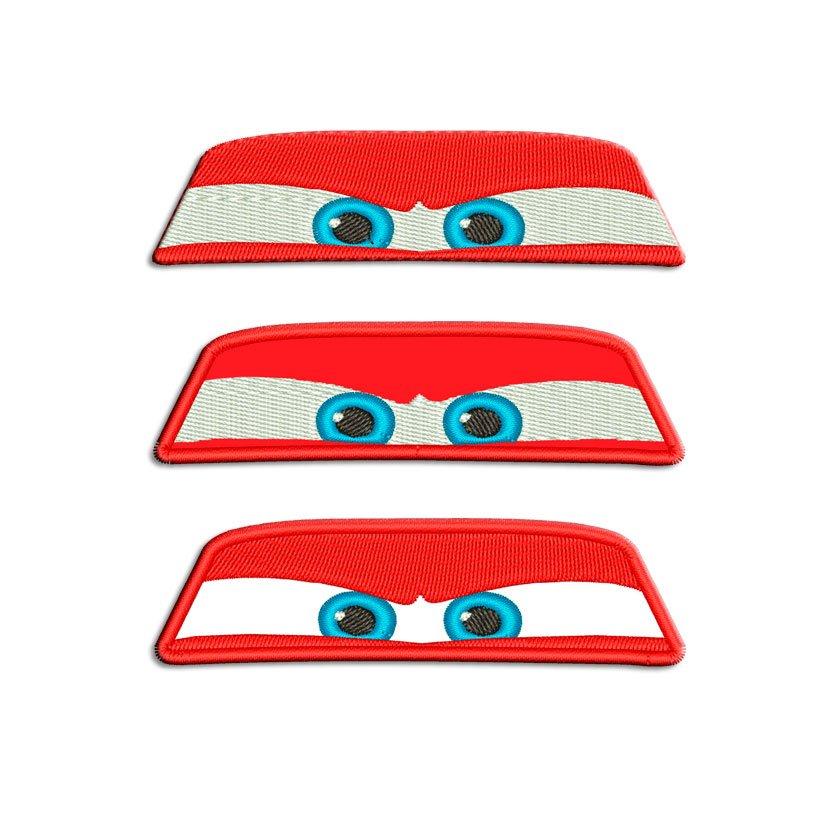 Lightning Mcqueen Eyes Embroidery Design