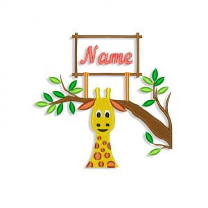 Girafes Machine embroidery designs
