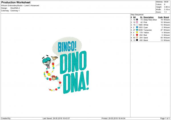 DNA Embroidery design