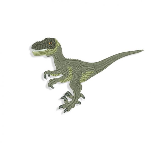Velociraptor Embroidery design