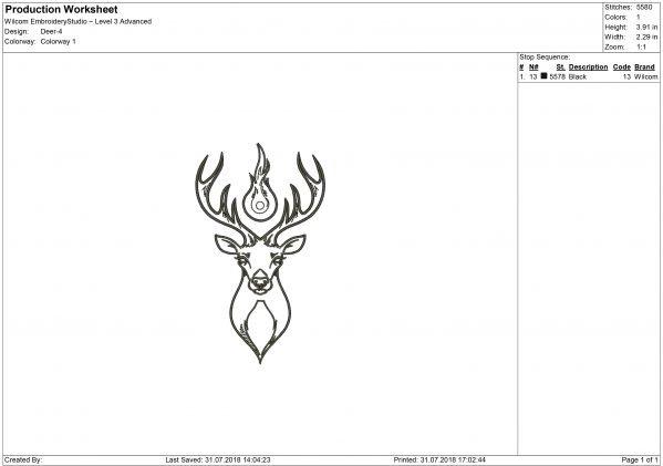 DeerEmbroidery design