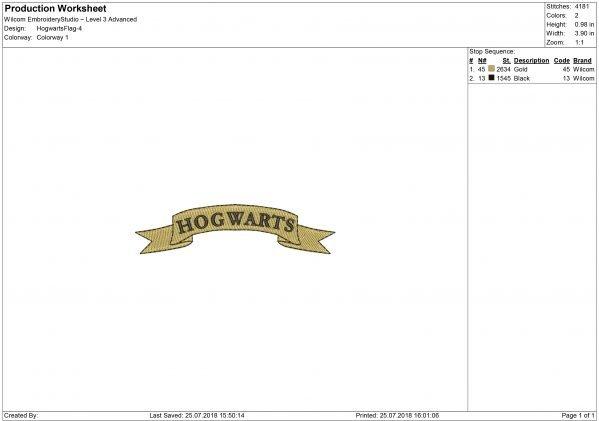HogwartsEmbroidery design