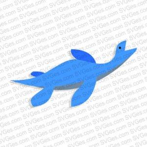 Baby Dinosaur Plesiosauria svg