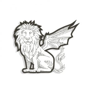 Lamison Lion Embroidery design files for Machine embroidery