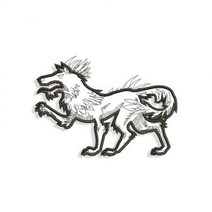 Hodag WolfEmbroidery design files for Machine embroidery