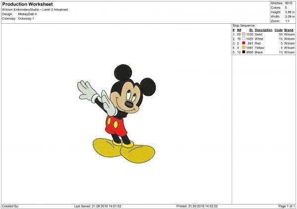 Dabbing Mickey Mouse