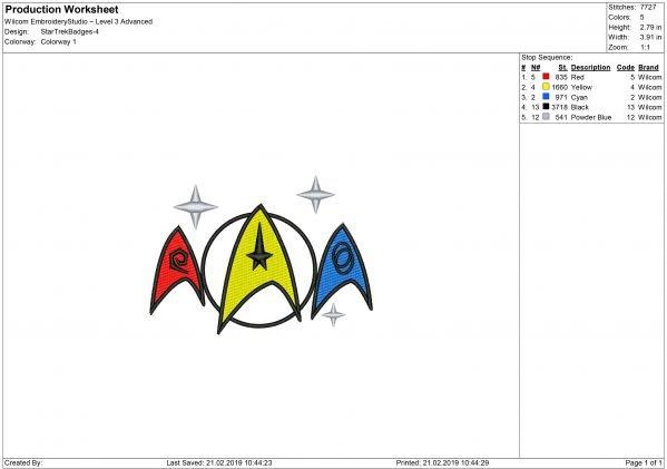 Star Trek Machine embroidery design