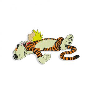 Calvin and Hobbes embroidery