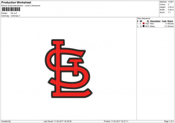 Cardinals Embroidery