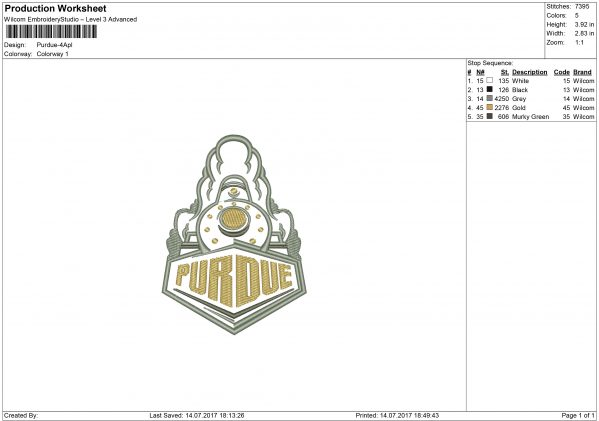 Purdue embroidery