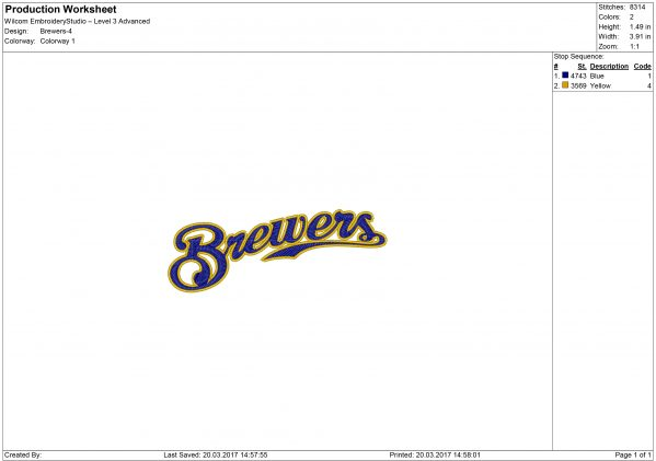 Milwaukee Brewers embroidery