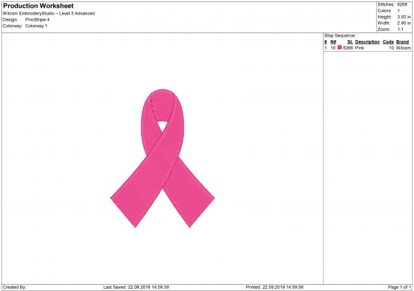 Pink Ribbon Embroidery