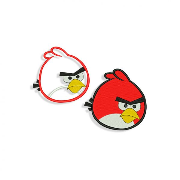 Angry Birds Red Embroidery