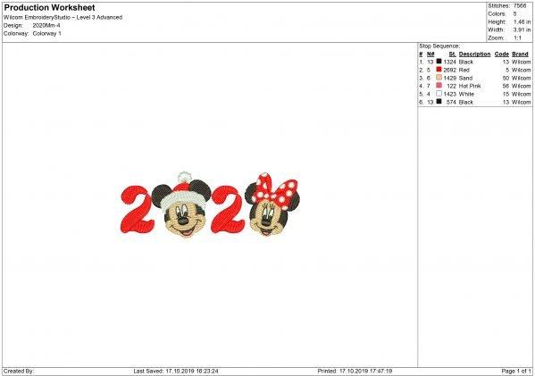 2020 Embroidery design