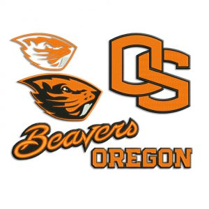 Oregon State Beavers Embroidery design