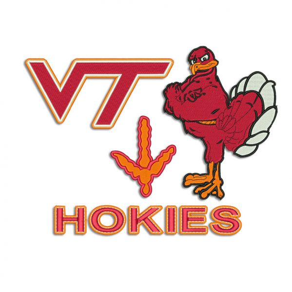 Virginia Tech Hokies Embroidery design