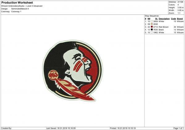 FSU Embroidery design