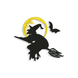 Witch Embroidery design