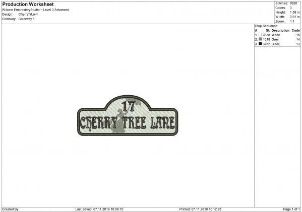 Cherry Tree Lane Embroidery design