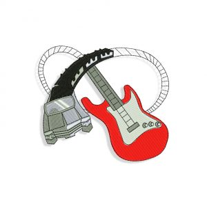Guitar Embroidery