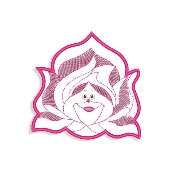 Rose Face Applique