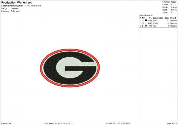 Georgia Bulldogs Embroidery design