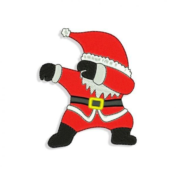 Dabbing Santa Embroidery