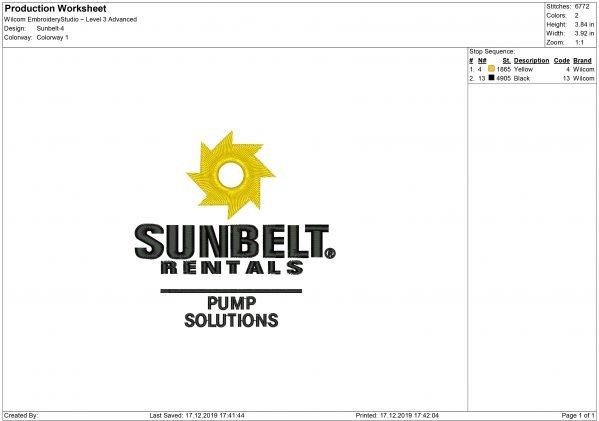Sunbelt Embroidery design