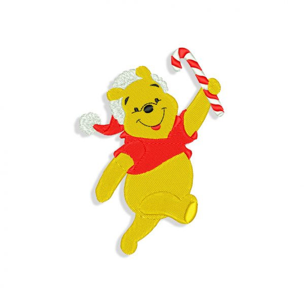 Christmas Winnie the Pooh Embroidery design