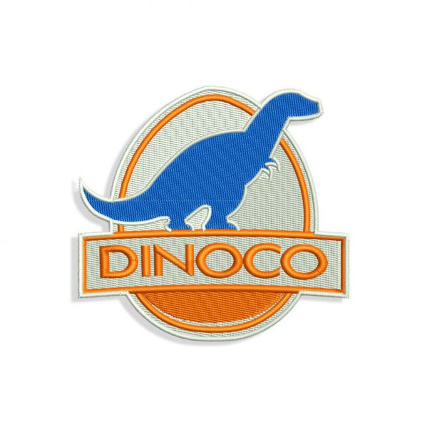 Dinoco logo Embroidery design