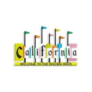 California logo Embroidery