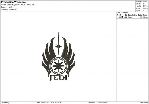Star Wars Embroidery design