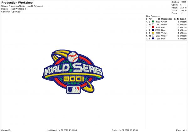 MLB logo Embroidery design