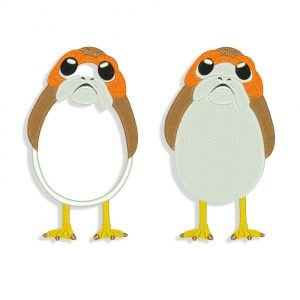 Porg Embroidery design