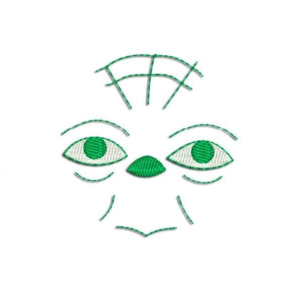 Yoda face Embroidery design