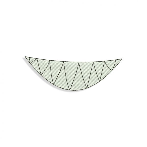 Angry Smiling Mouth for Mouth mask Embroidery