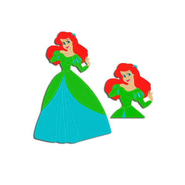 Princess Ariel Little Mermaid Embroidery