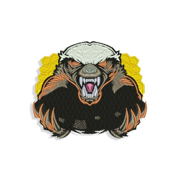 Honey Badger Embroidery design