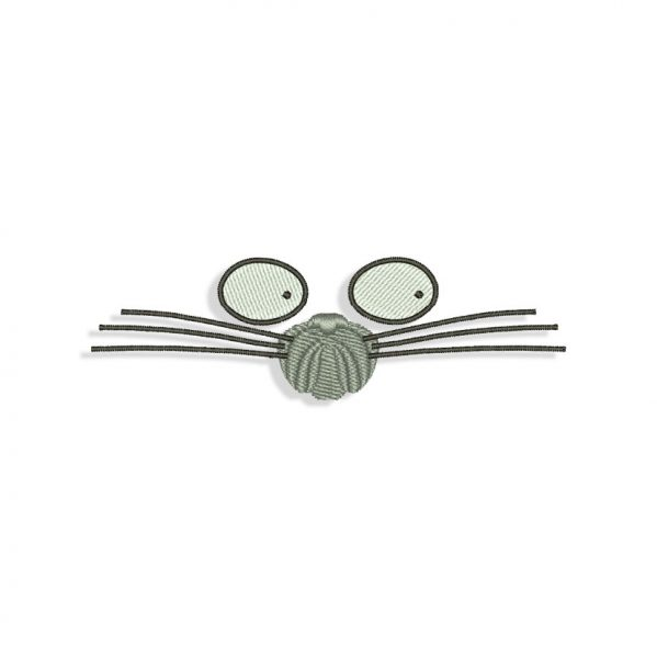 Weird Girl Cat Face Embroidery design